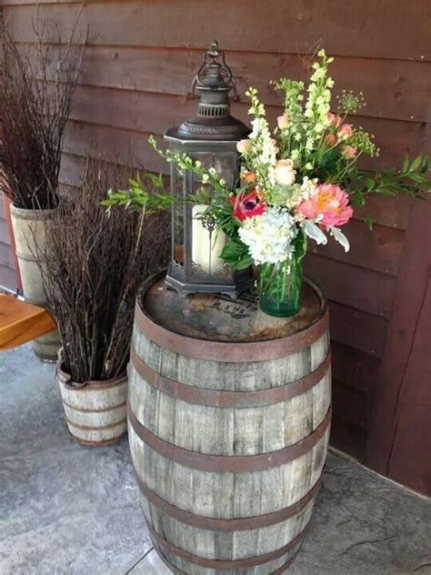 Whiskey Barrel Decor by 25 Best Ideas About Whiskey Barrel Table On