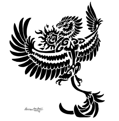griffin tribal tattoo gryphon drawings sun gryphon tribal by sunimo on