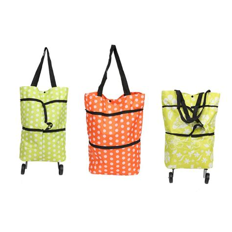 Gratis Ongkir Supermarket Trolley Organizer Bag Shopping Bag foldable shopping trolley bags rolling wheels storage grocery cart reusable shopper bags items