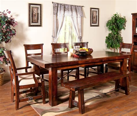 kitchen tables with bench seating and chairs 7 piece extension table with chairs and bench set by sunny