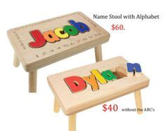 Name Puzzle Step Stool By Melissadoug by I Giving This As A Baby Birthday Gift My