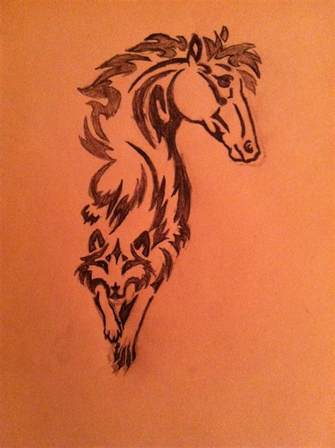 heartbeat tattoo with horse horse heart tattoo horse to wolf tattoo design tat