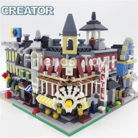 Where Can I Buy A Lego Store Gift Card - 5sets lot mini street view fire station hotel shop mall city set building bricks