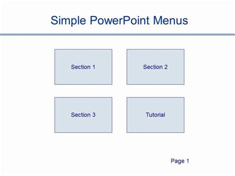 simple powerpoint menus template