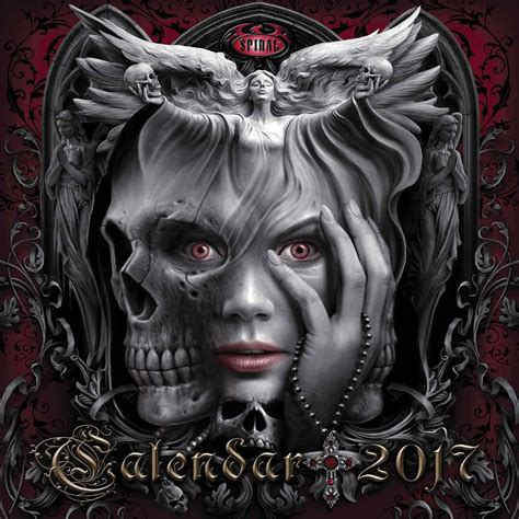 the cal 2017 gothic art spiral gothic calendar 2017 calendar club uk