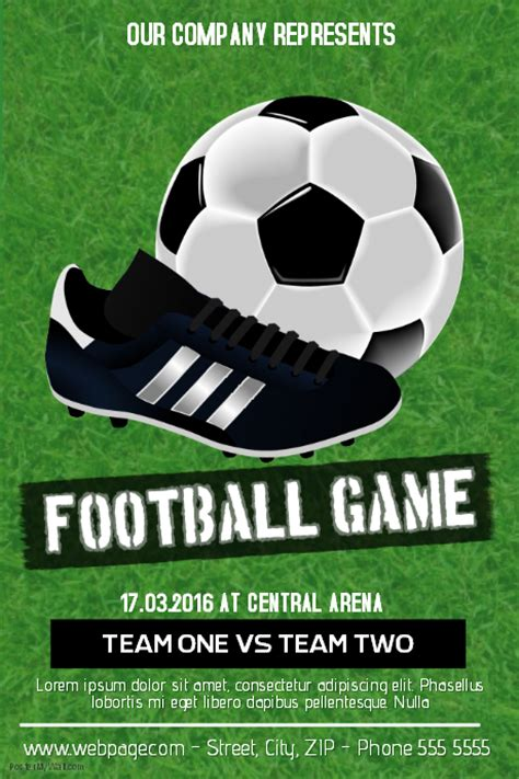 Football Soccer Game Flyer Template Postermywall Free Football Flyer Design Templates