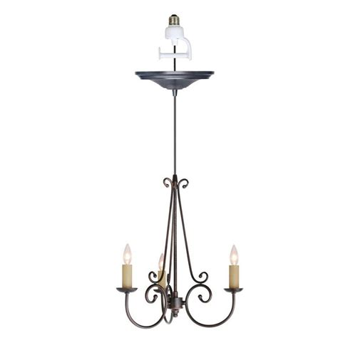 chandelier lighting kit home decorators collection rogen 3 light rubbed bronze