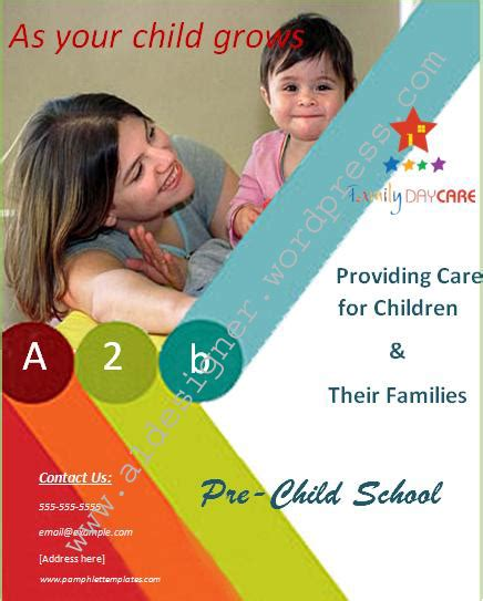 Child Care School Poster Graphics And Templates School Poster Templates