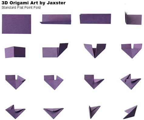 3d Folding Paper - 3d origami folding by jaxster115 on deviantart