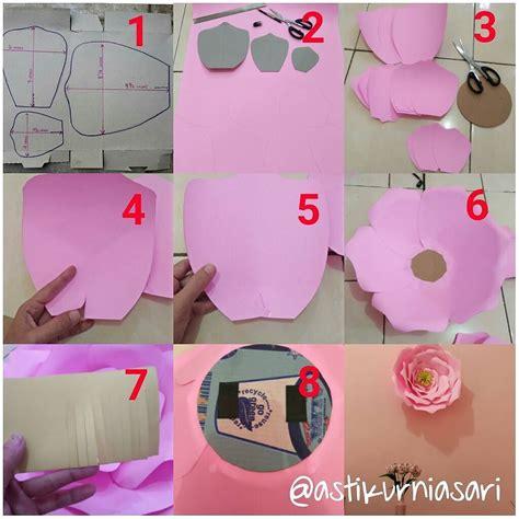 cara membuat bunga dari kertas manila diy cara membuat bunga dari kertas untuk hiasan dinding