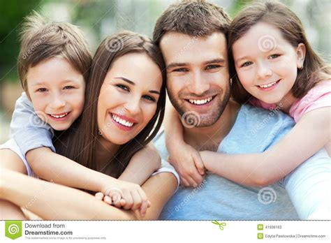 Home Design For Middle Class Family by Happy Family Of Four Stock Photo Image 41938163