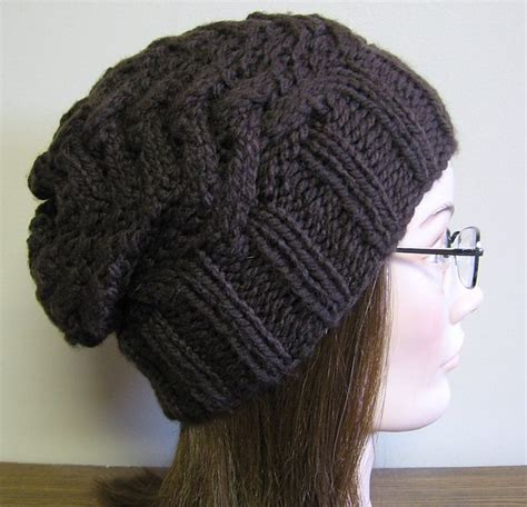 knitting patterns for slouchy hats free slouchy hat free pattern knit