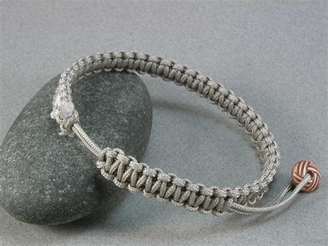 Macrame Knots Bracelets - square knot macrame rope bracelet with zip whatknotshop