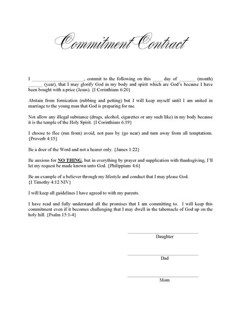 Commitment Letter Husband commitment