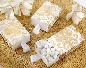 gold wedding favors quot treasures quot gold damask favor box set of 24