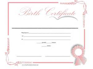 birth certificate templates for word birth certificate templates certificate templates