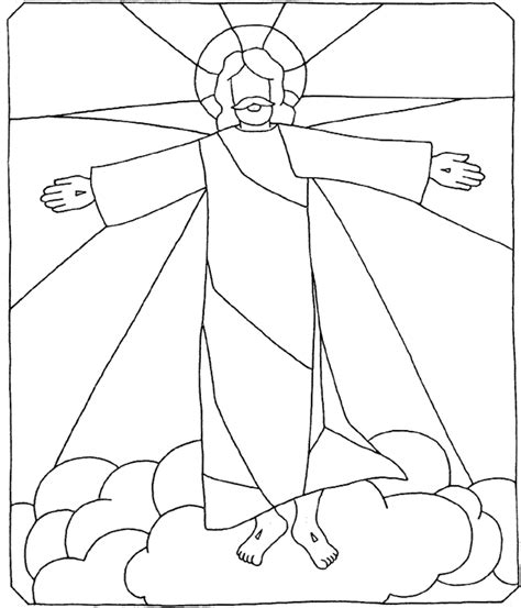 coloring page for jesus ascension the ascension of jesus