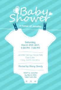 baby blue stripes free printable baby shower invitation