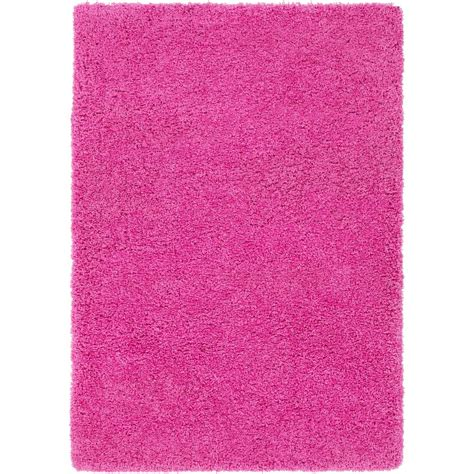 bright pink rug surya galaxy shag bright pink 2 ft x 3 ft indoor area rug gys4505 23 the home depot