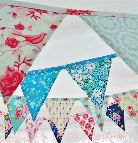 Handmade Bunting - handmade mini bunting lots of designs by sew sweet