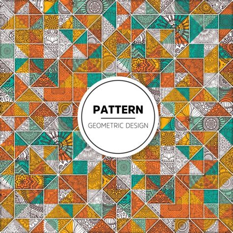 mosaic pattern download beautiful mosaic pattern with ornaments vector free download