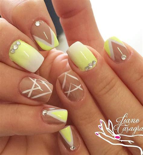 light yellow nail 35 yellow and white nail design ideas