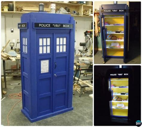 diy tardis bookshelf projects picture