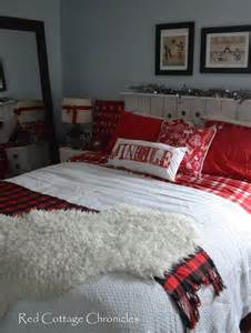 Our Christmas Bedroom Red Cottage Chronicles Decorate Bedrooms