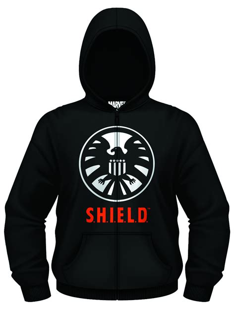 Hoodie Zipper Agents Of Shield 1 313 Clothing previewsworld marvel of shield px blk zip up hoodie xl c 0 1 2