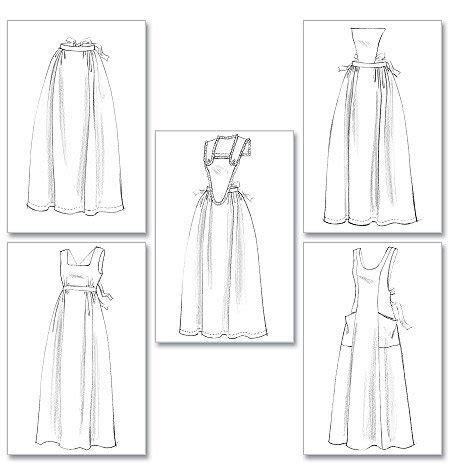 pattern maker history new apron pattern making history 5 styles b 5509 free