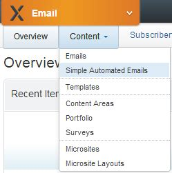 exacttarget email templates add web forms on automated emails in exacttarget