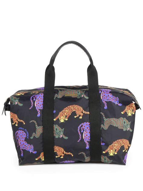 Stella Mccartney Travel Tote by Stella Mccartney Multicolor Cat Travel Bag In Black