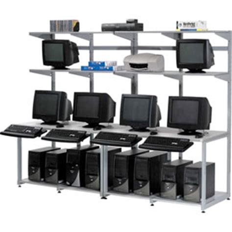 global industrial office furniture computer furniture lan stations 96 quot computer lan workstation 96 quot w x 30 quot d x 74 quot h gray