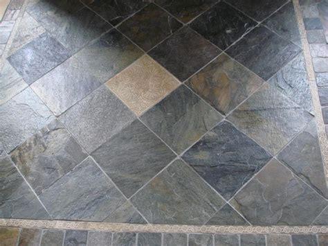 30 Ideas on using natural slate bathroom tiles