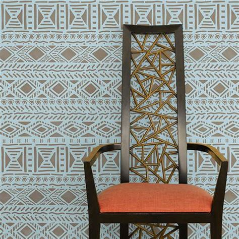tribal pattern wallpaper for walls tribal wall art stencils chic african tribal wall