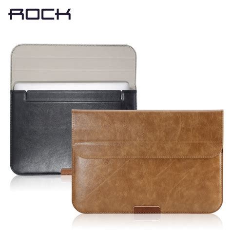 Macbook Air 13 Inch Jakarta rock leather smart sleeve bag stand hold for macbook