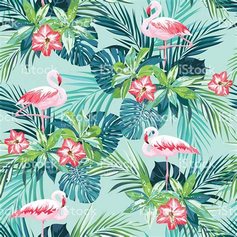 photoshop patterns jungle tropical summer seamless pattern with flamingo birds and