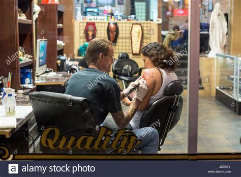 tattoo shops tucson az artist in shop stock photos artist in shop