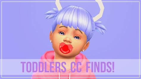 sims 4 toddler cc the sims 4 cc showcase finds toddler cc youtube