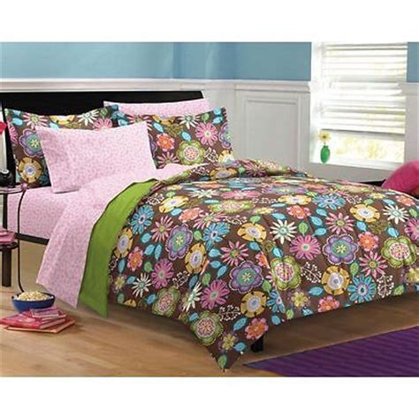 dimensions of a twin xl comforter twin twin xl size girls brown floral 5 piece comforter
