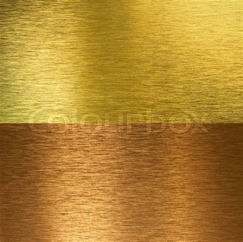bronze messing brushed bronze and brass stitched textures stock photo
