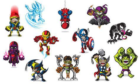 Sticker Laptop Justice League Heroes miniature marvel mini