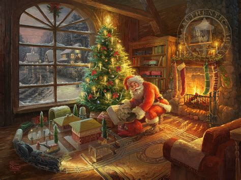 home interiors kinkade prints santa s special delivery limited edition the