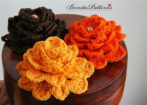 free pattern for crochet flowers free gratitude flower by bonitapatterns craftsy