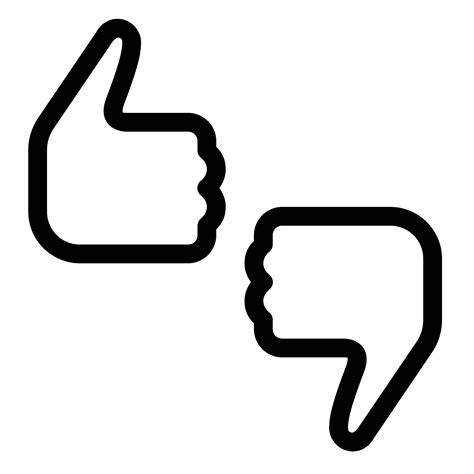 best thumbs thumbs up icon free png and vector