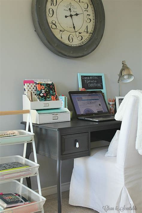 small desk area ideas small desk organization ideas clean and scentsible