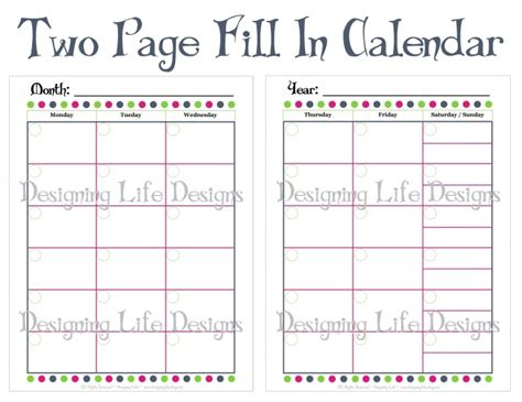 printable calendar to fill in monthly calendar to print and fill out calendar template