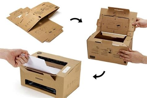 Origami Printer - origami samsung foldable cardboard laser printer