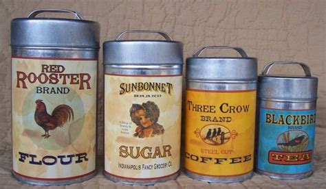 country canister sets for kitchen vintage decor canister set for the home