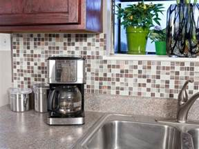 Peel And Stick Backsplashes For Kitchens by Self Adhesive Backsplash Tiles Hgtv